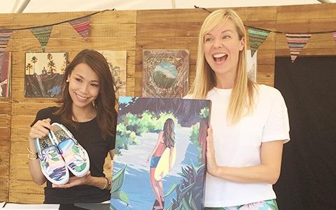 ハワイを代表するアーティスト 「サーフィンデビューは湖」