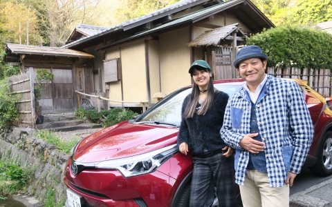 ぐっさん、鎌倉でウグイス呼び寄せ茶道体験?