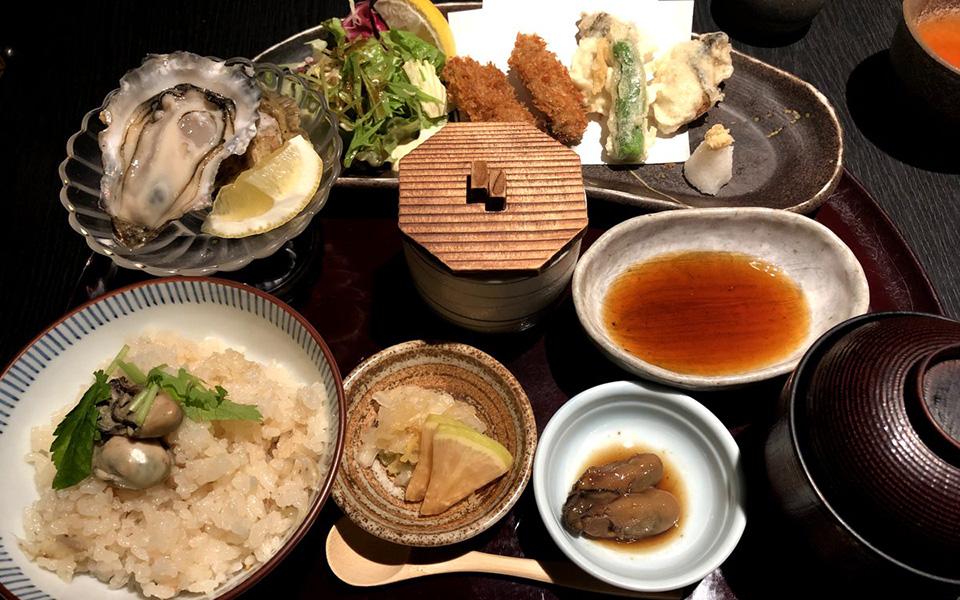 広島産のプレミアムな牡蠣が11個も! 平日限定「カキ御膳」を銀座で
