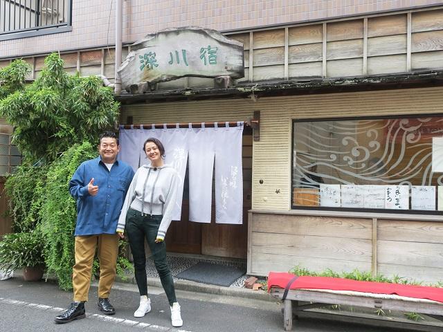 山口智充&浦浜アリサ、深川ドライブを満喫! 江戸の伝統の味を堪能
