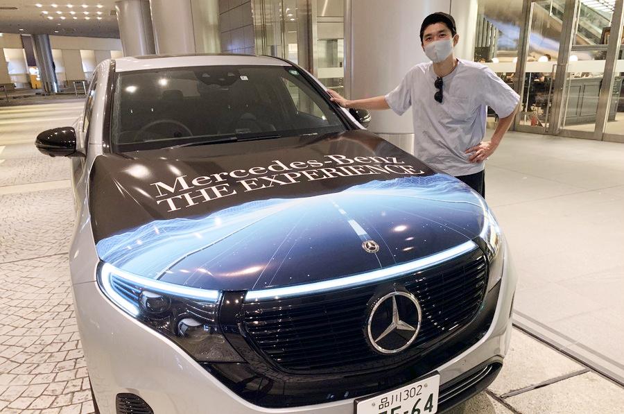メルセデス・ベンツの電気自動車・EQCで行く! アナログ盤を取り揃えた「HMV record shop 渋谷」