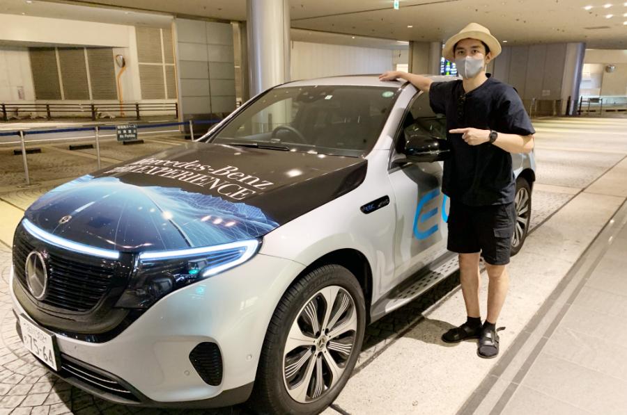 メルセデス・ベンツの電気自動車・EQCで行く!  太っ腹な「ドライブスルー魚屋」