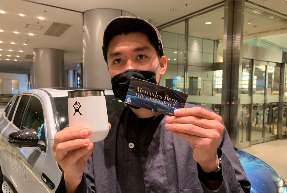「Mercedes-Benz THE EXPERIENCE」番組オリジナルステッカー、「EQ by Mercedes-Benz×Hydro Flask タンブラー」
